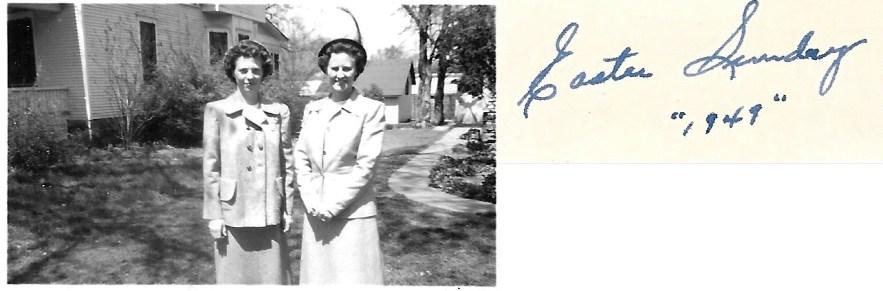 Evelyn Phillis Faulkner and Eleanor Phillis Baird, Easter 1949