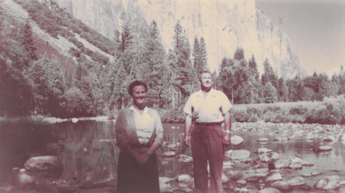 Eleanor and Hanley Baird, Lake Tahoe, ca. 1950s