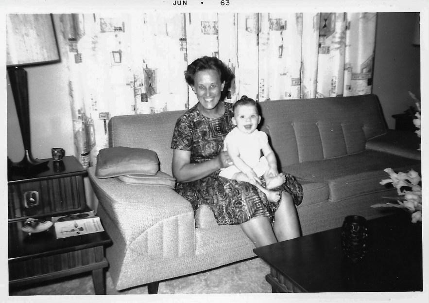 Eleanor Baird and niece, Kimberli Faulkner, June 1963