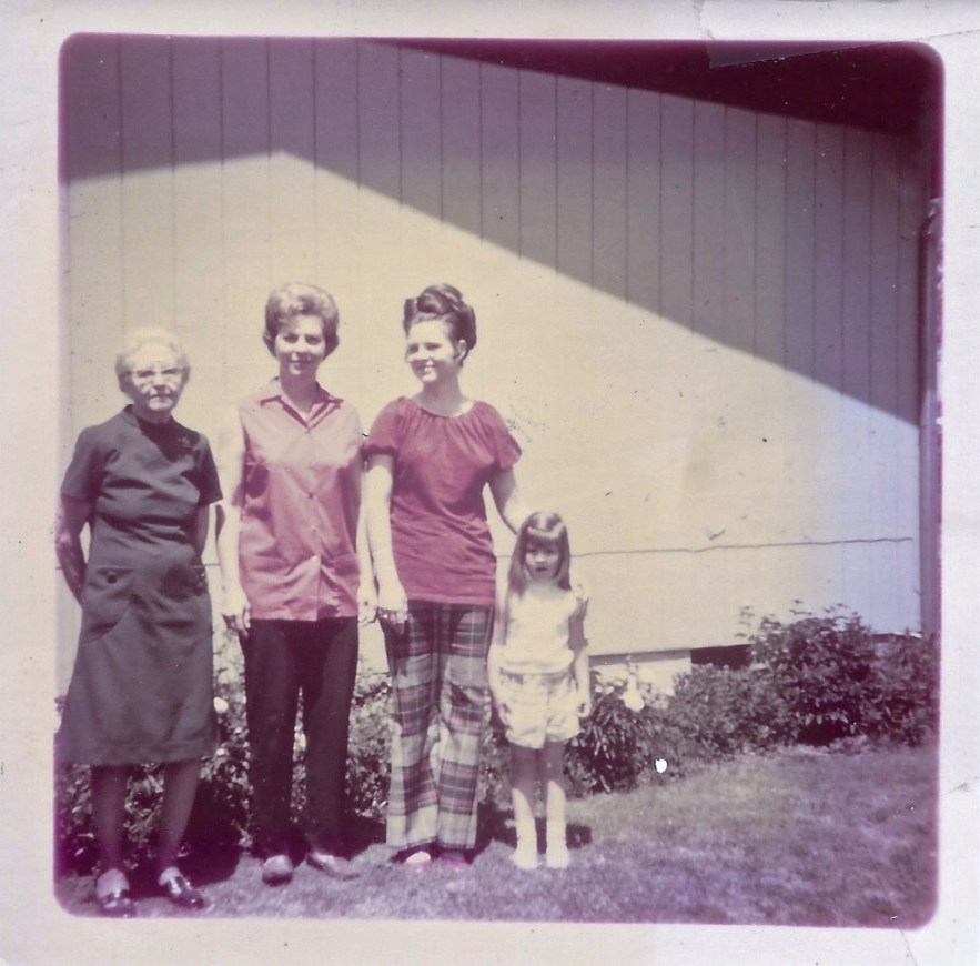 Four generations Phillis Faulkner family, ca. 1971, Independence