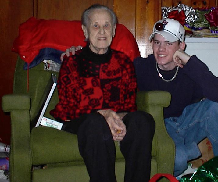 Eleanor Baird and grand nephew, Ryan H