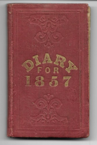 """Ann M. Hull, """"Diary of 1857,"""" (Susquehanna County, Pennsylvania), cover, privately held by Faulkner-Hull Collection"""