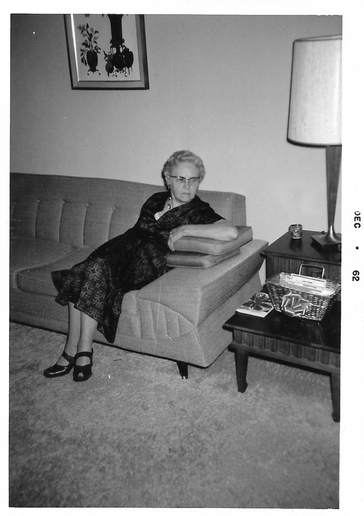 Myrtle Hooper Phillis, Dec 1962, Independence, Kansas