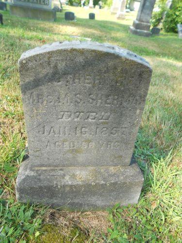 Hannah Eldridge headstone, photo by Paul R