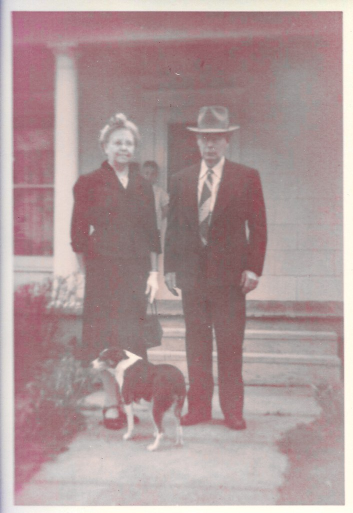 Myrtle Hooper Phillis and William Phillis, 9 July 1955