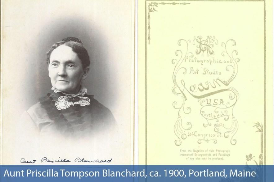 Aunt Priscilla Blanchard, ca. 1900, Portland, Maine