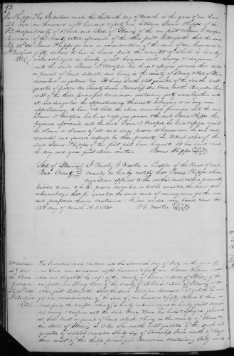 Bond County, Illinois, Deed Record, vol. F, p. 92, James Phipps to James D. Hooper, 13 Mar 1841. Consideration: $150. Property: SE. Se. Sec. 27, T4, NR 3W. Recorded 22 July 1841.