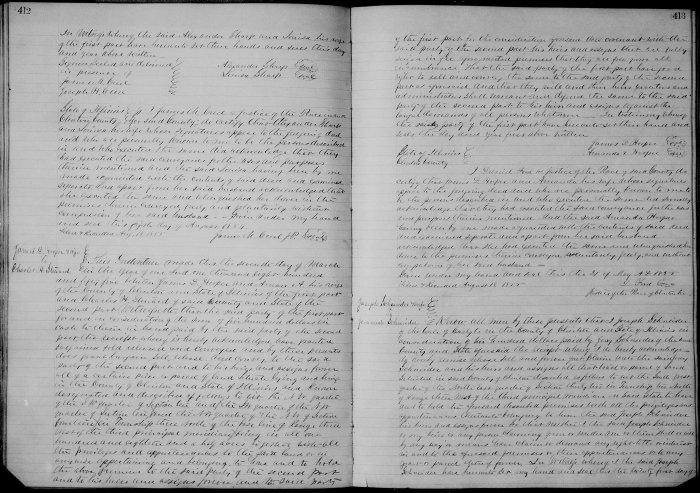 Clinton County, Illinois, Deed Record, Book, vol. K, p. 412, James D. and Amanda Hooper to Charles H. Steward 21 May 1855.