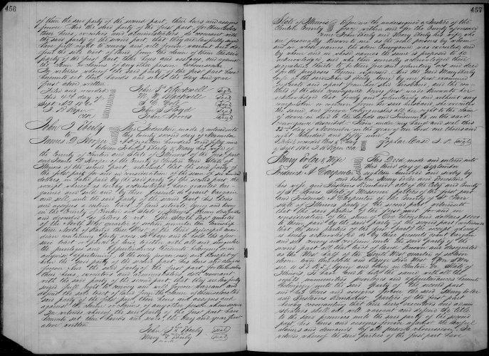Clinton County, Illinois, Deed Record, vol. P, p.456, John J and Mary Eberly to James D. Hooper, 22 Nov 1859.