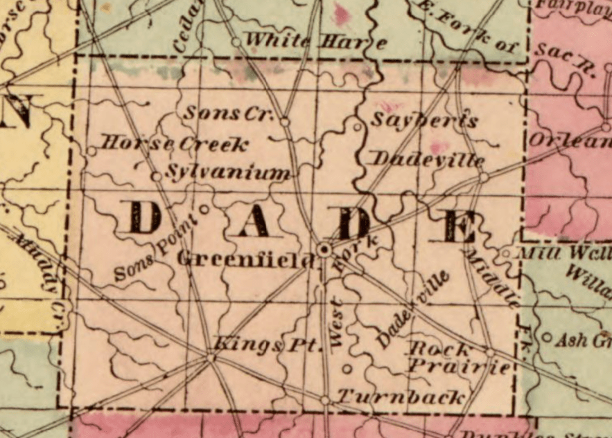 Dade County, from Missouri, 1852, Library of Congress, Geography and Map Division