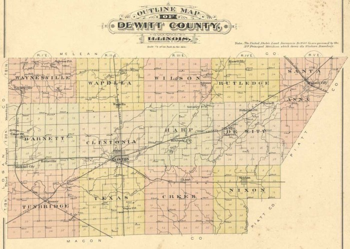 De Witt County map, 1894; Library of Congress, Geography and Map Division