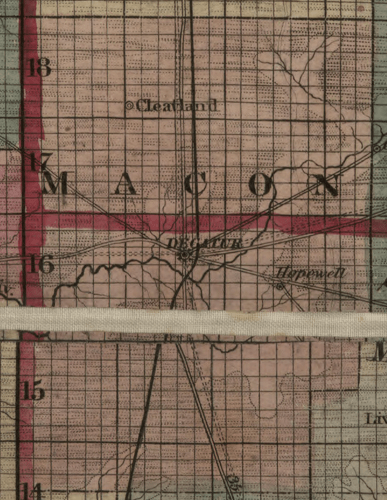 Macon County, New Sectional Map of the State of Illinois, 1836; Library of Congress, Geography and Map Division