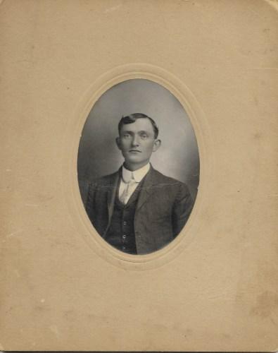 James Robert Baird, ca. 1900, Kansas. Privately held by Kimberli Faulkner Hull, niece of Eleanor Phillis Baird, wife of Hanley Baird. James Baird was Hanley's father.