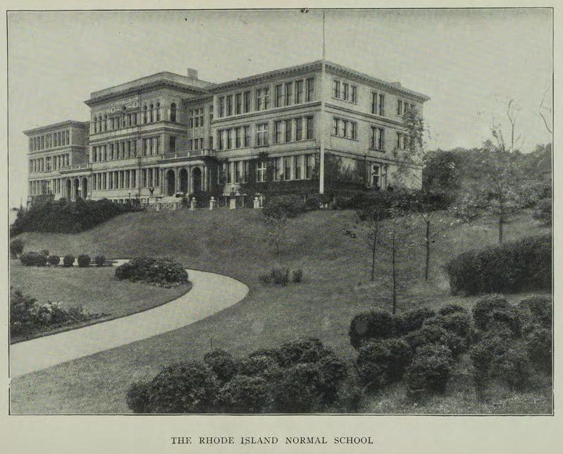 "Photo: Rhode Island Normal School, ""Rhode Island Normal School Catalog, 1909"""