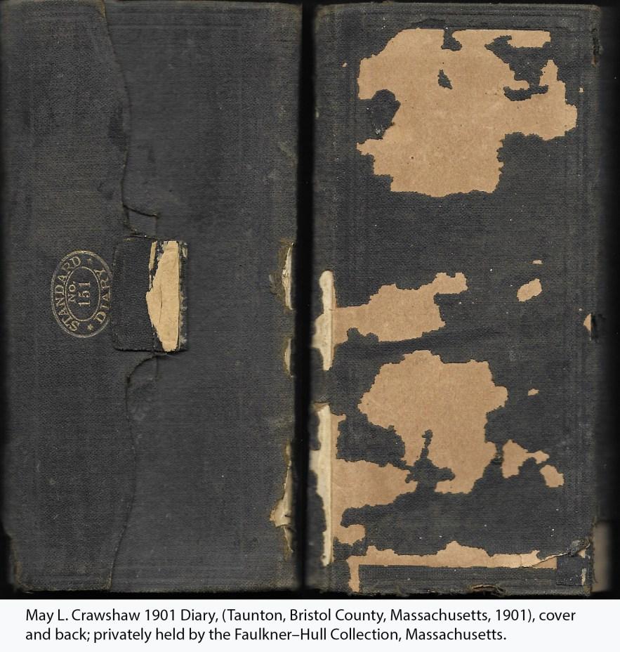 May L. Crawshaw 1901 Diary, (Taunton, Bristol County, Massachusetts, 1901), cover and back