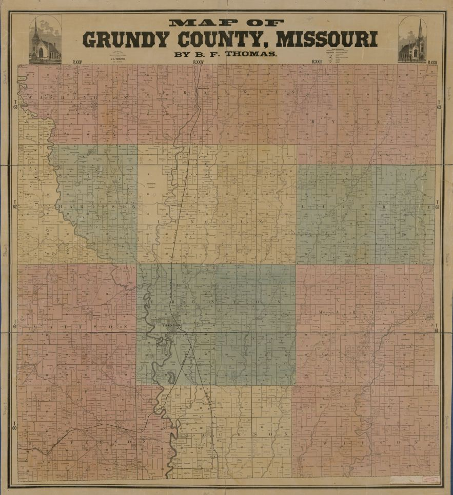 Grundy County, Missouri ca 1890, Library of Congress, Geography and Map Division.