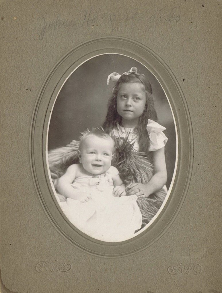 """Written on photo: """"John Hooper girls."""" Believed to be Winifred Hooper and her sister, Wilma, ca. 1910."""