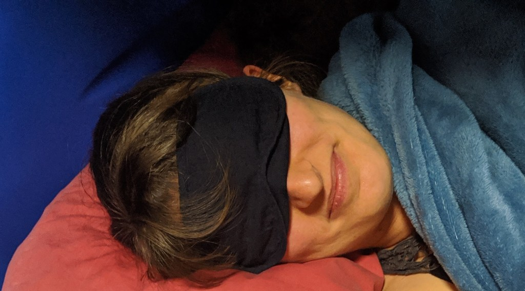 Bring a sleep mask with you to help you sleep in a room that may have light from other travellers