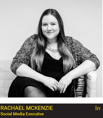Rachel is our social media executive