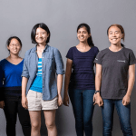 from the left: Tania Yu, Charlene Xia, Bonnie Wang, Chandani Doshi, Jialin Shi, Courtesy of Team Tactile.