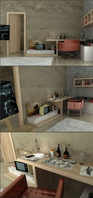 Modern Teen Bedroom Designs with Integrated Study Room Modifications