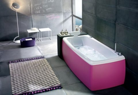 Fashionable Colorful Bathtub Designs with Modern and Stylish Style05