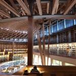 国際教養大学 中嶋記念図書をバイクで尋ねる、世界が絶賛する図書館!