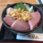 女川まぐろ屋明神丸の季節限定うにトロ丼を食べた 石巻-女川ツーリング