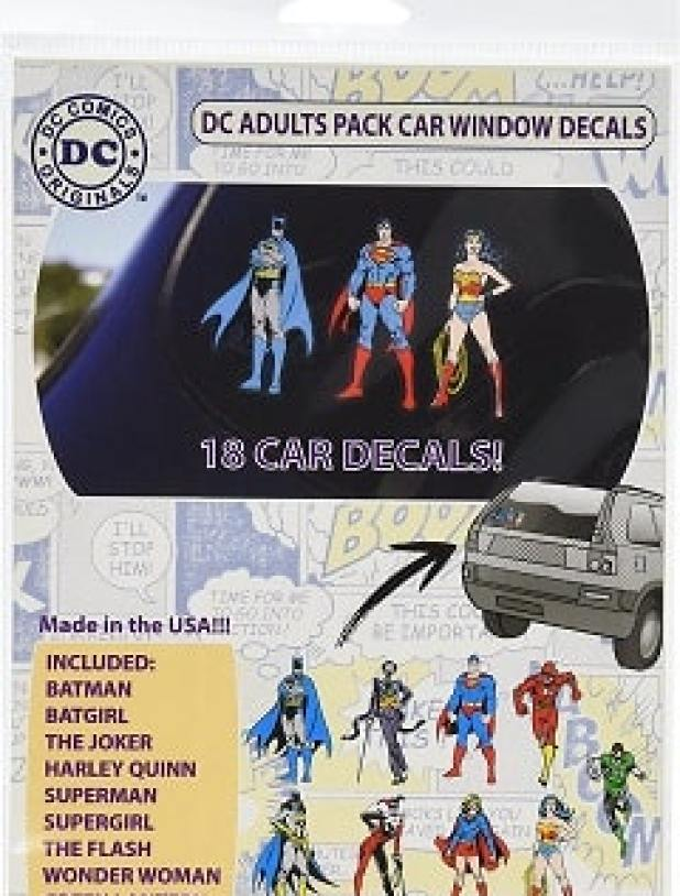 DC Comics ST DCFAM BOMBPACK Family Pack DC Bombshells Car Window Sticker Decals