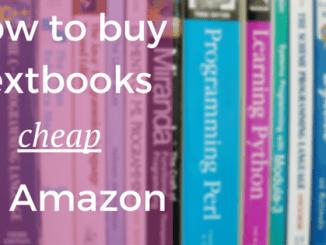 How to buy textbooks cheap amazon