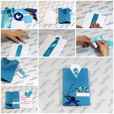 How To DIY Masculine Suit And Tie Greeting Card