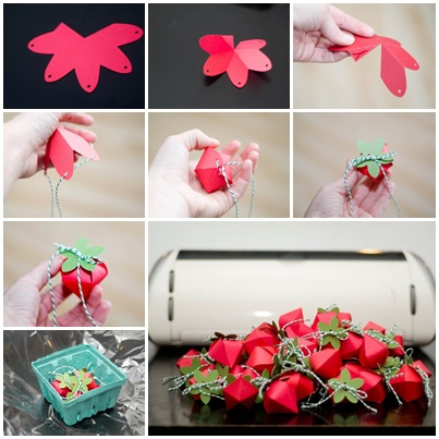 How To DIY Strawberry Gift Favor Boxes