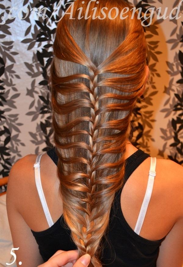 DIY Fishtail Braid Mermaid Braid Hairstyle