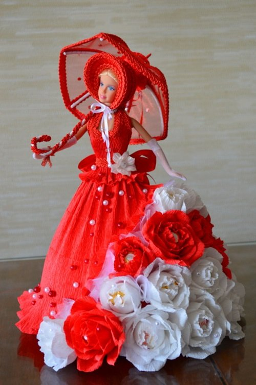 Barbie Chocolate Bouquet You Can Make for Next Birthday Party