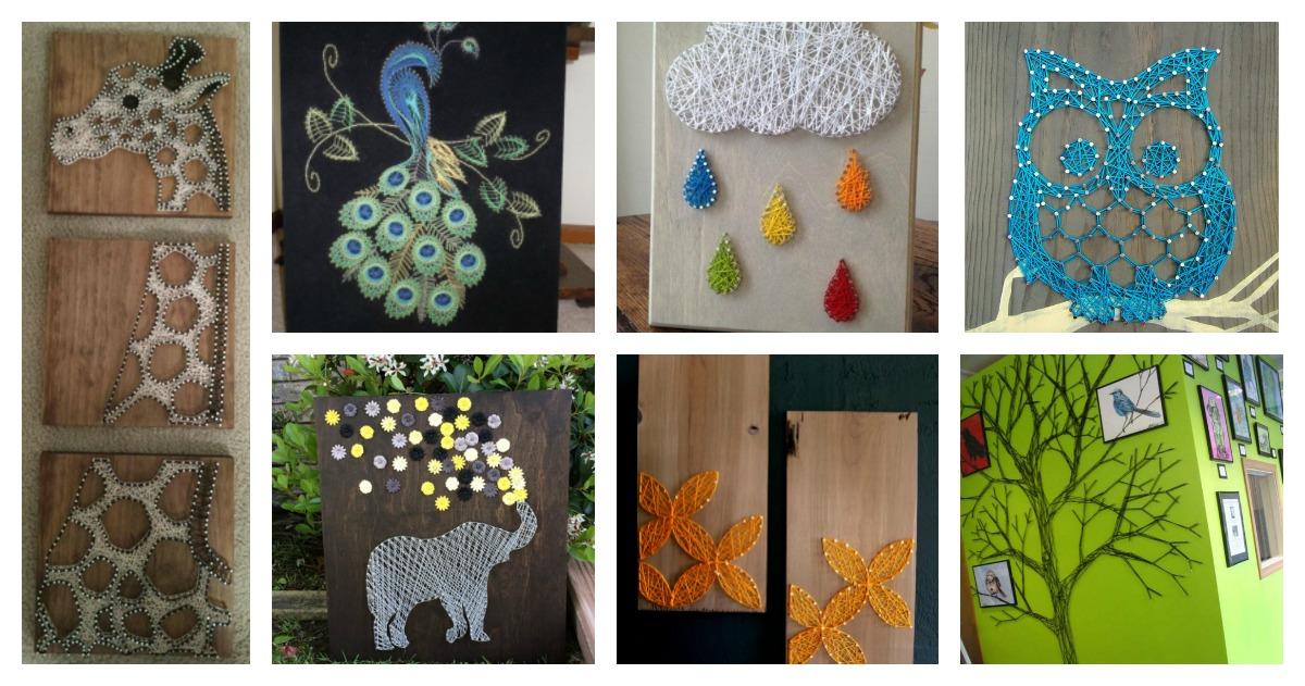 30+ Creative DIY String Art Project Ideas