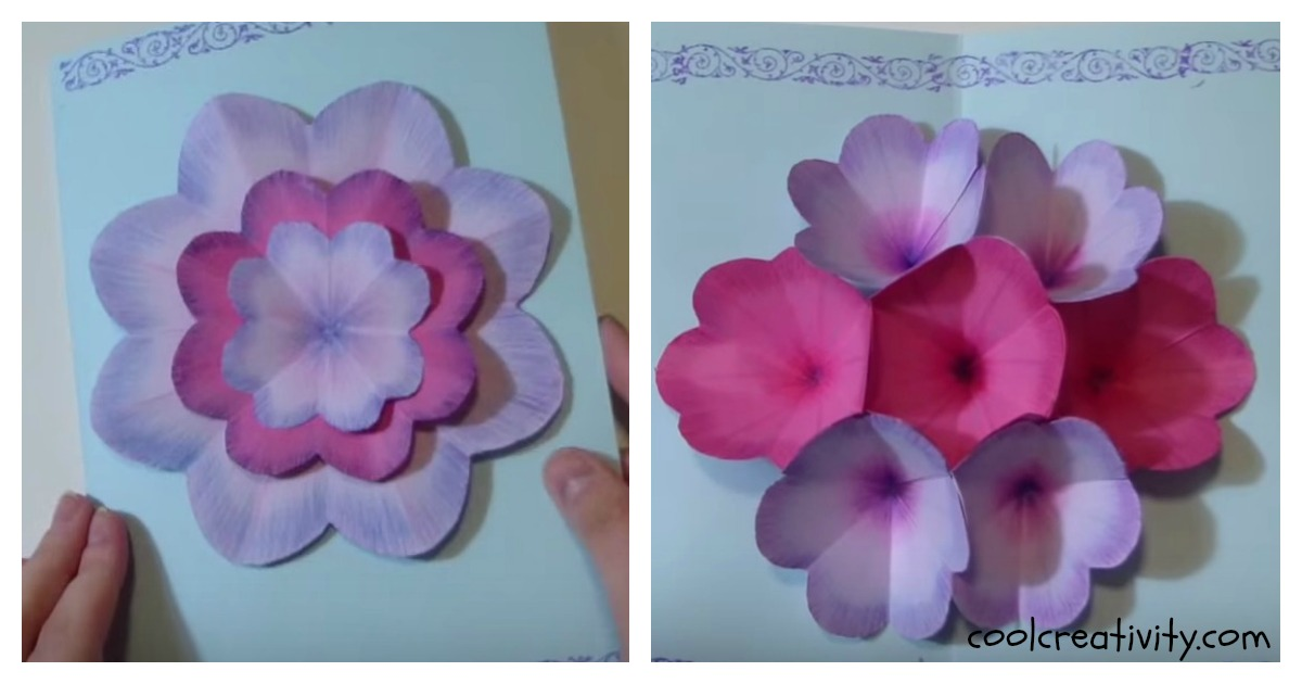 Creative DIY Mothers Day Pop Up Flower Card