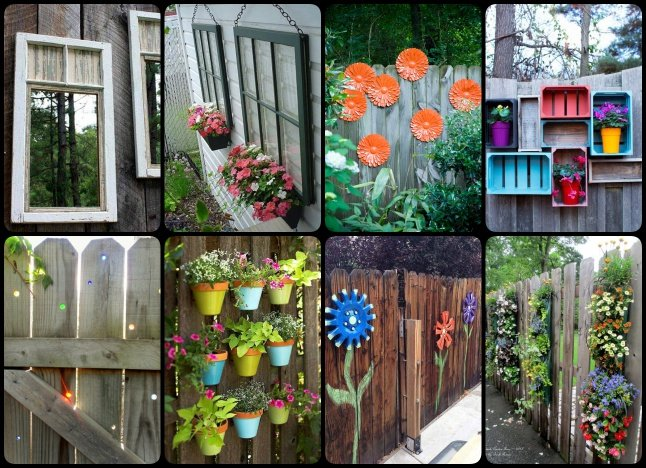 30+ Cool Garden Fence Decoration Ideas - Page 5 of 5 on Backyard Wooden Fence Decorating Ideas id=92293