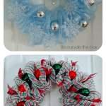 10 Creative Christmas Deco Mesh Wreath Ideas