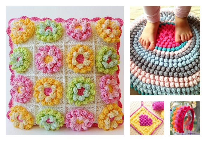 Beautiful Bobble Stitch Crochet Patterns And Projects