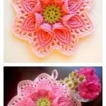 Calla Lily Flower Potholder Free Crochet Pattern
