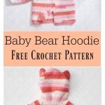 Baby Bear Hoodie Sweater Free Crochet Pattern