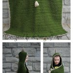 Hooded Dinosaur Blanket Free Crochet Pattern