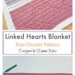 Lace Heart Baby Blanket Crochet Pattern