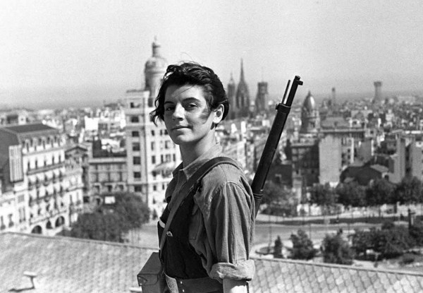 Marina Ginestà of the Juventudes Comunistas