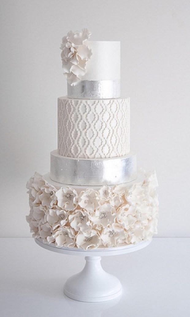 Quatrefoil Wedding Cake