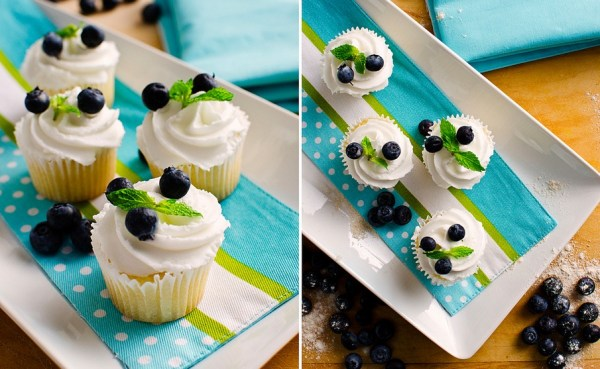 Blueberry & Mint Cupcakes