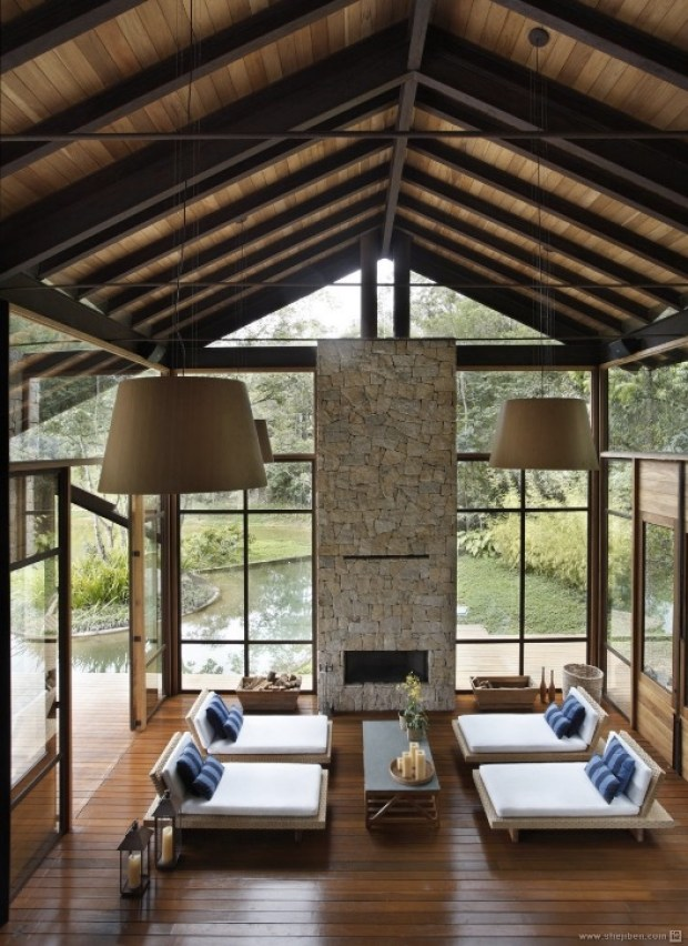 living-room-of-stone-wood-and-glass