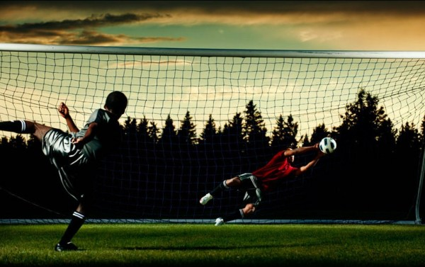 Love playing soccer