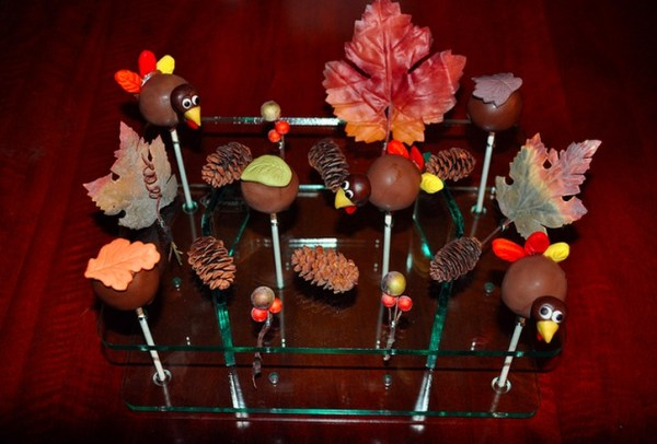 Cake Pops made with milk chocolate