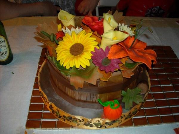 Chocolaty Thanksgiving Cake